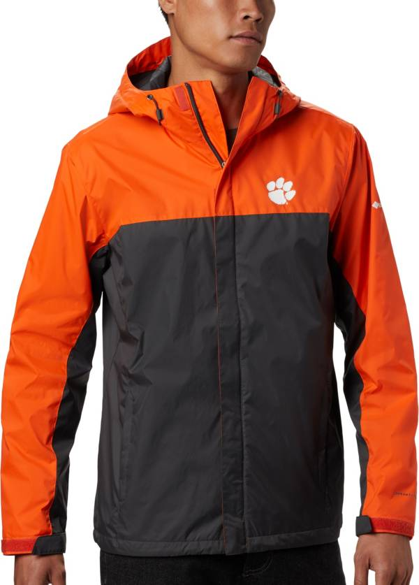 Columbia Men's Clemson Tigers Orange/Grey Glennaker Storm Jacket product image