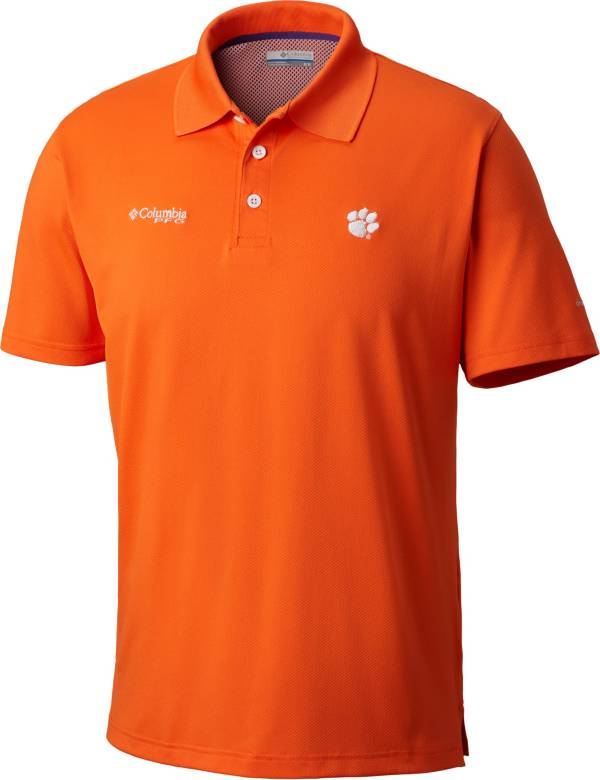 Columbia Men's Clemson Tigers Orange Skiff Cast Performance Polo product image