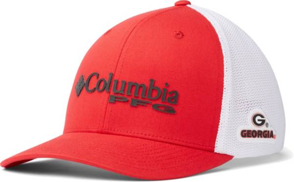 Columbia Men's Georgia Bulldogs Red PFG Mesh Fitted Hat product image
