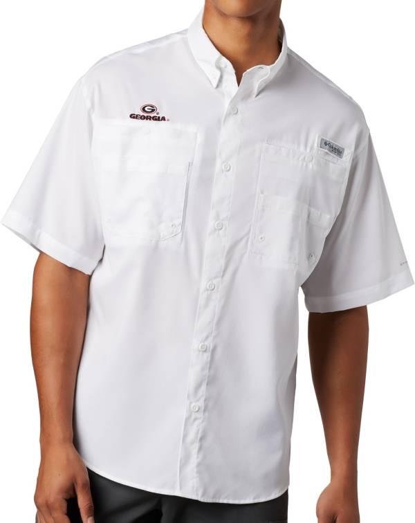 Columbia Men's Georgia Bulldogs Tamiami Performance White Shirt product image