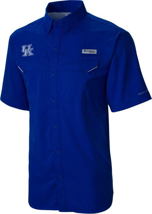 a48f1ba45cd Columbia Men's Kentucky Wildcats Blue Low Drag Offshore Short Sleeve Button  Down Performance Shirt. noImageFound. Previous