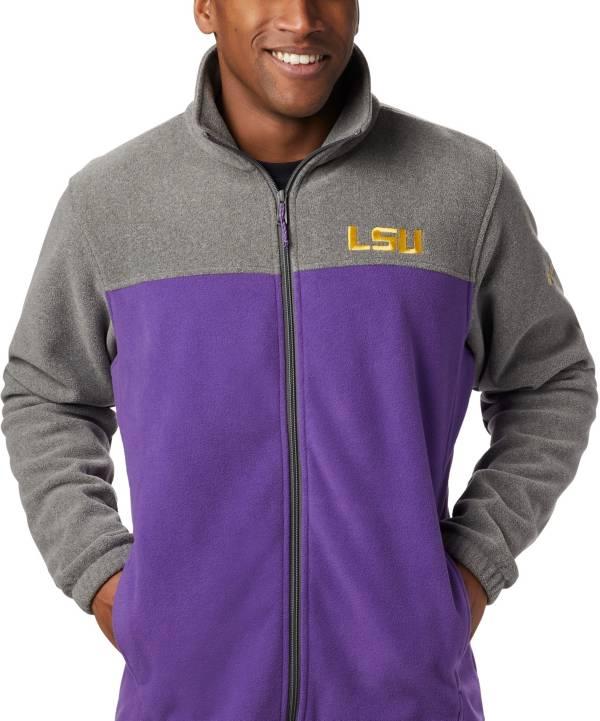 Columbia Men's LSU Tigers Grey Flanker Full-Zip Fleece Jacket product image