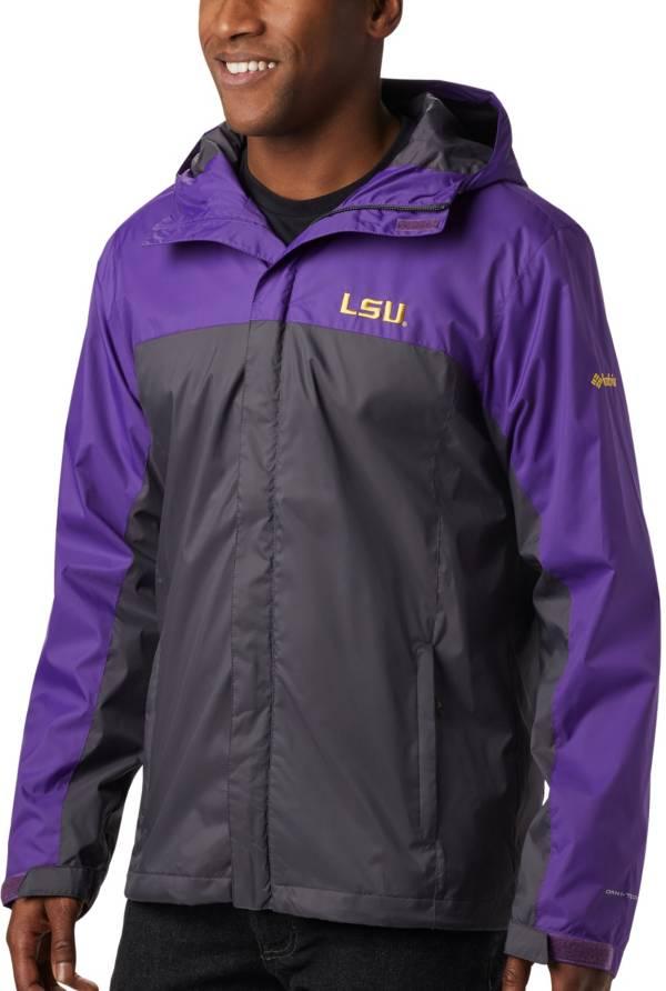 Columbia Men's LSU Tigers Purple/Grey Glennaker Storm Jacket product image