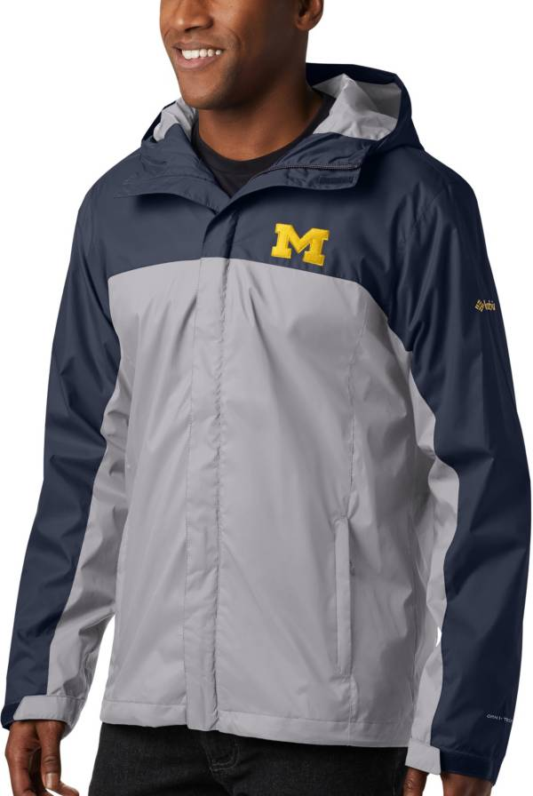 Columbia Men's Michigan Wolverines Blue/Grey Glennaker Storm Jacket product image