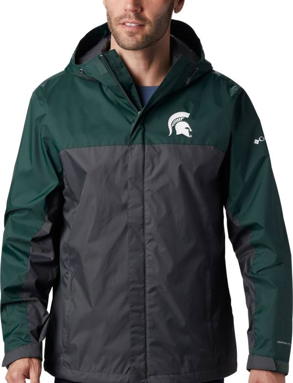 Columbia Men's Michigan State Spartans Green/Grey Glennaker Storm Jacket product image