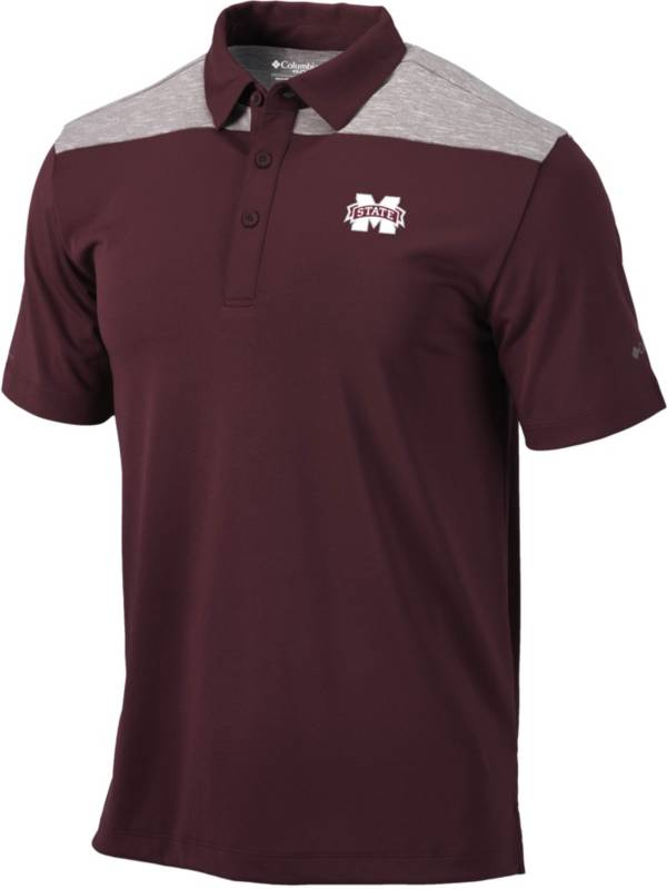 Columbia Men's Mississippi State Bulldogs Maroon Utility Performance Polo product image