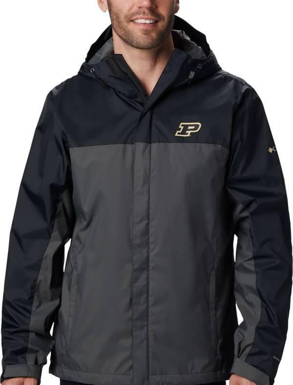 Columbia Men's Purdue Boilermakers Black/Grey Glennaker Storm Jacket product image
