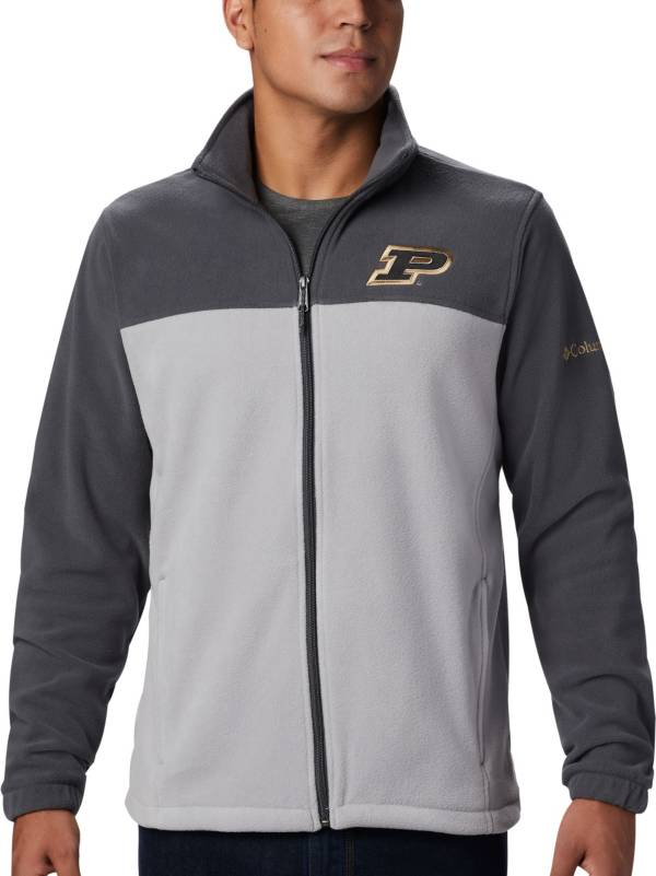 Columbia Men's Purdue Boilermakers Grey Flanker Full-Zip Fleece Jacket product image