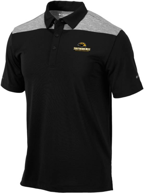 Columbia Men's Southern Miss Golden Eagles Black Utility Performance Polo product image