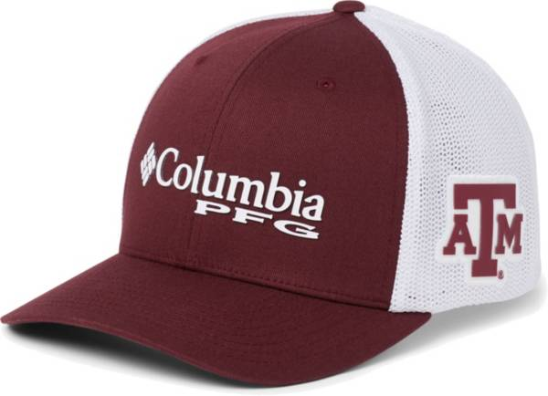 Columbia Men's Texas A&M Aggies Maroon PFG Mesh Fitted Hat product image