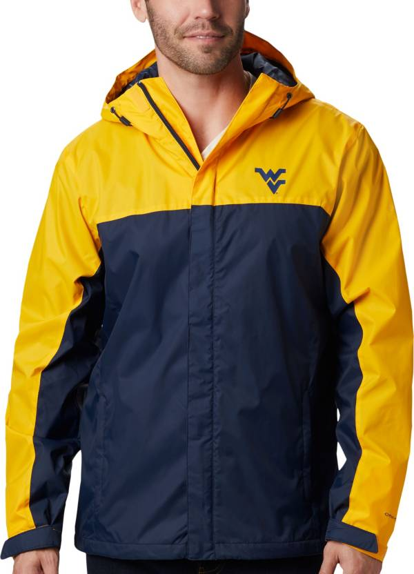 Columbia Men's West Virginia Mountaineers Gold/Blue Glennaker Storm Jacket product image