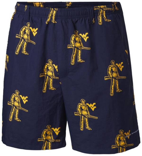 Columbia Men's West Virginia Mountaineers Blue Backcast II Printed Performance Shorts product image