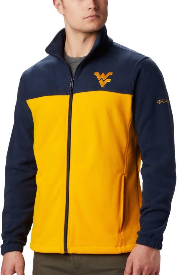 Columbia Men's West Virginia Mountaineers Blue Flanker Full-Zip Fleece Jacket product image