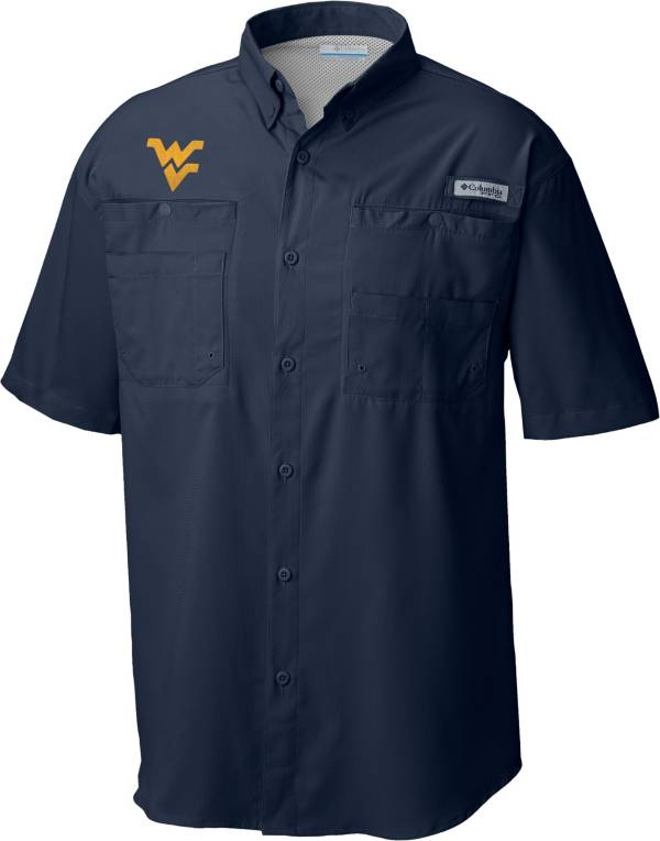Columbia Men's West Virginia Mountaineers Blue Tamiami Performance Shirt product image
