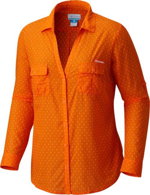 4c99849d2df1 Columbia Women s Clemson Tigers Orange White Sun Drifter Long Sleeve ...