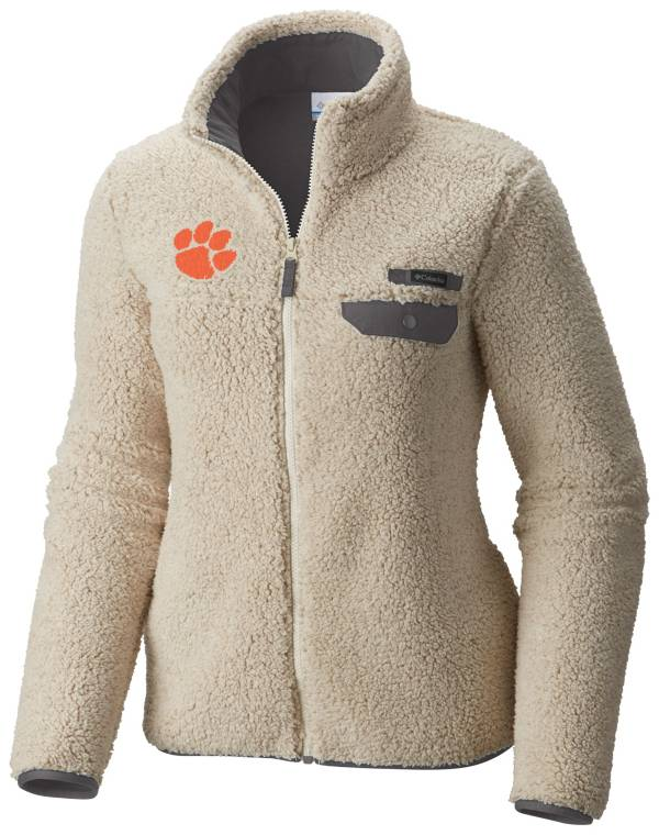 Columbia Women's Clemson Tigers Mountainside Full-Zip White Jacket product image