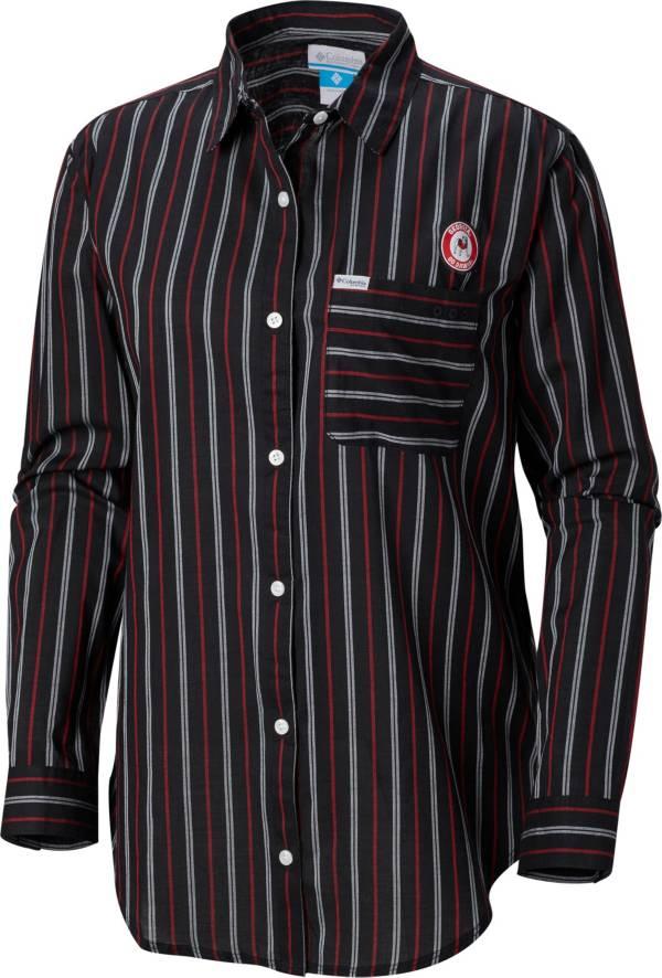 Columbia Women's Georgia Bulldogs Sun Drifter Long Sleeve Button Down Black Shirt product image