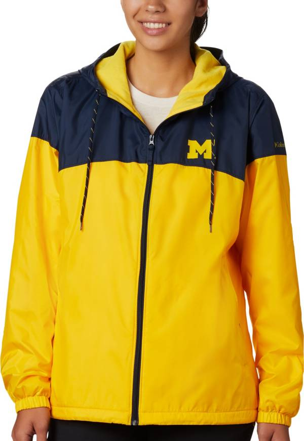 Columbia Women's Michigan Wolverines Blue/Maize CLG Flash Forward Lined Jacket product image