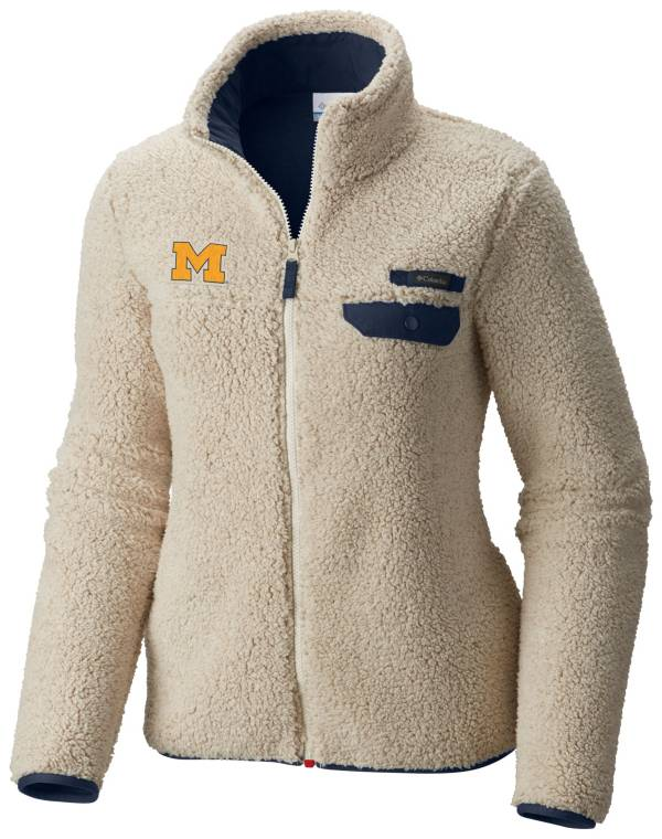 Columbia Women's Michigan Wolverines Mountainside Full-Zip White Jacket product image