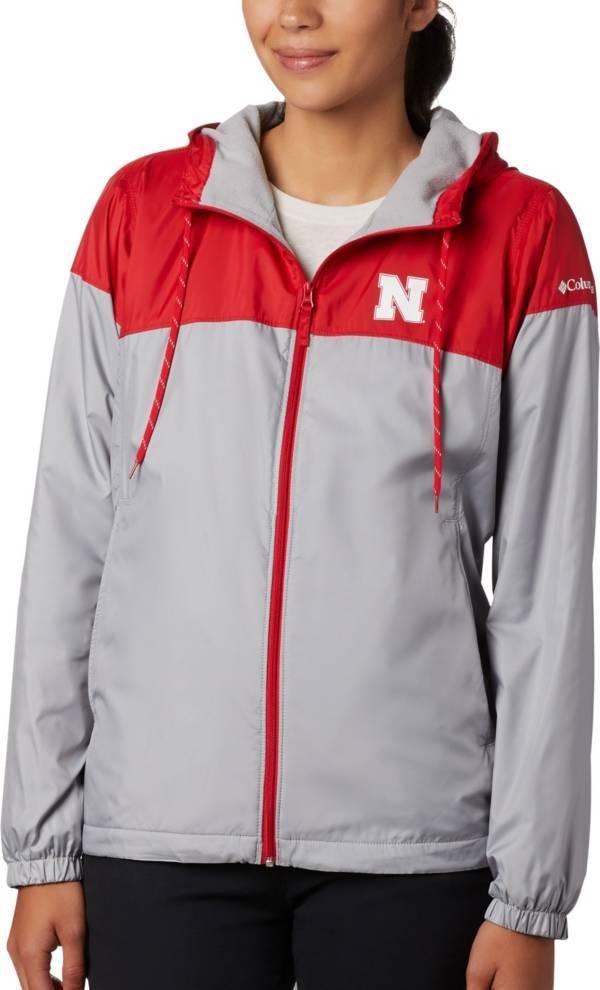 Columbia Women's Nebraska Cornhuskers Scarlet/Grey CLG Flash Forward Lined Jacket product image