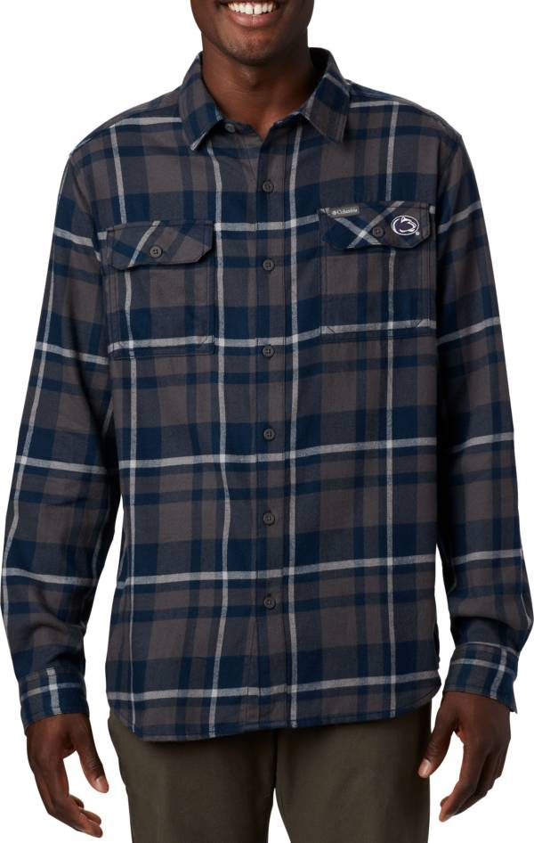 Columbia Men's Penn State Nittany Lions Blue Plaid Flare Gun Flannel Long Sleeve Button Down Shirt product image