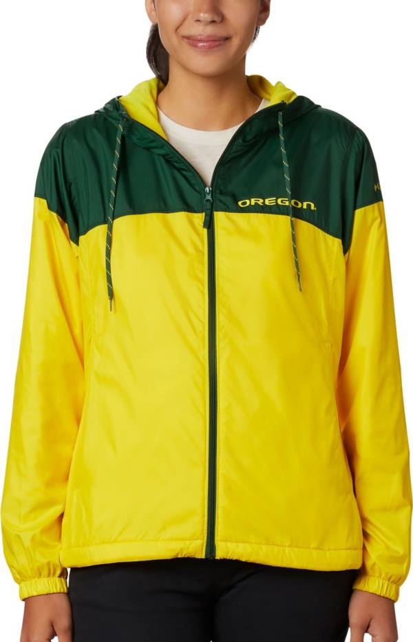 Columbia Women's Oregon Ducks Green/Yellow CLG Flash Forward Lined Jacket product image