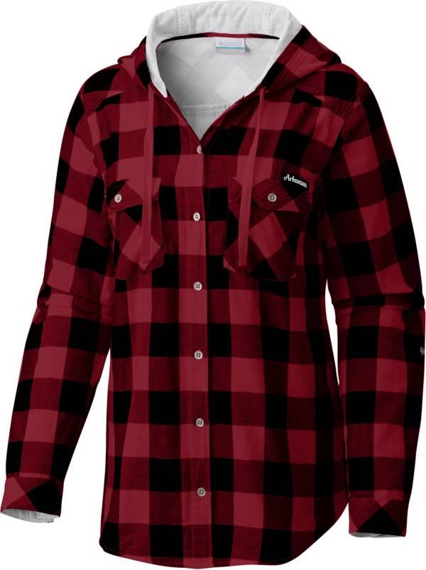 Columbia Women's Arkansas Razorbacks Red/Black Times Two Long Sleeve Button Down Shirt product image