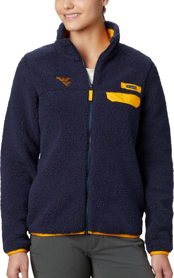 Columbia Women's West Virginia Mountaineers Blue Mountain Side Heavyweight Full-Zip Jacket product image