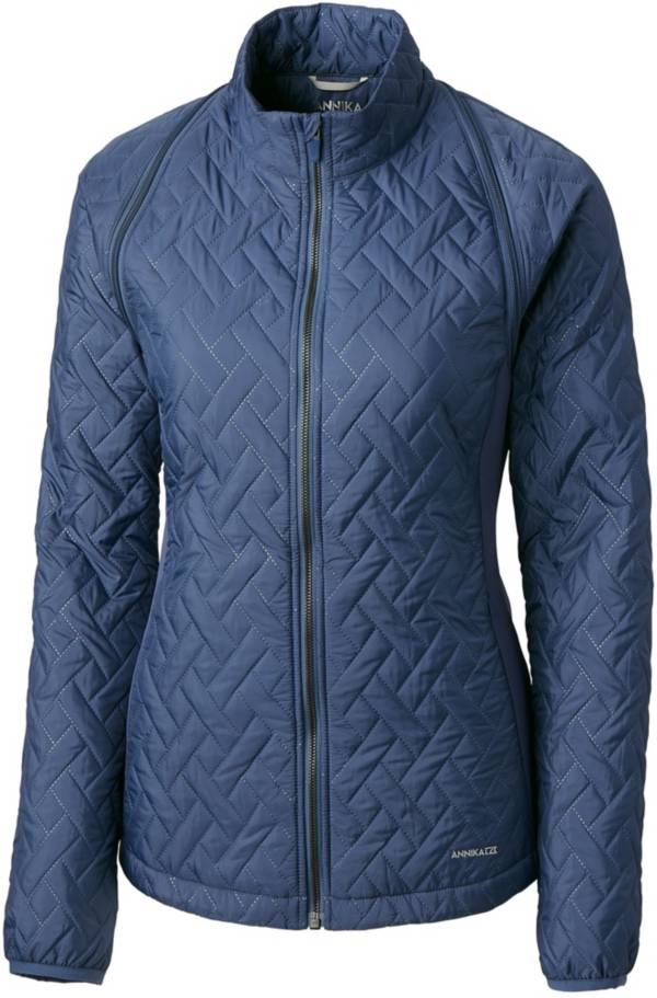 Cutter & Buck Women's Annika Propel 2-in-1 Full-Zip Quilted Golf Jacket product image