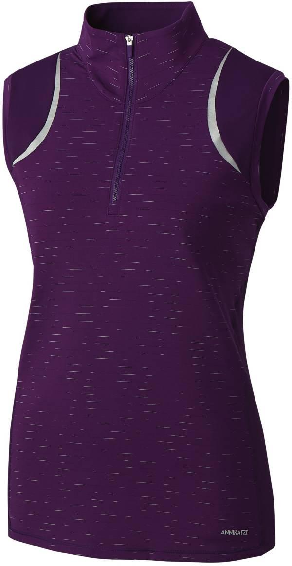 Cutter & Buck Women's Annika Elite Contour Mock Neck ¼-Zip Sleeveless Golf Top product image
