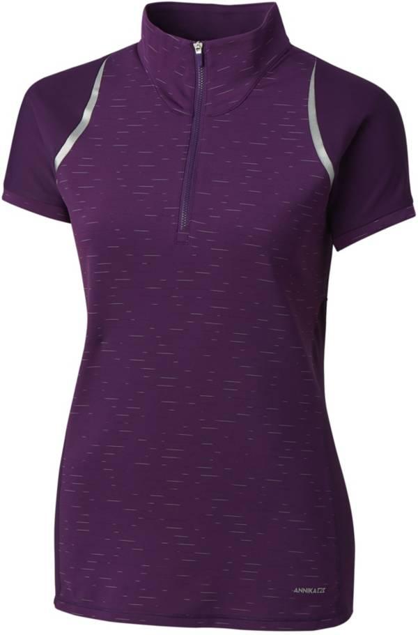 Cutter & Buck Women's Annika Elite Contour Mock Neck ¼-Zip Golf Top product image