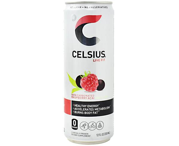Celsius Fitness Drink Sparkling Raspberry Acai Green Tea 12-Pack product image