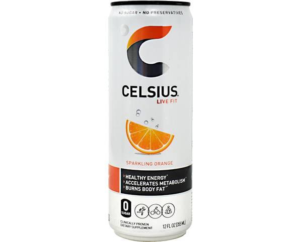 Celsius Fitness Drink Sparkling Orange 12-Pack product image