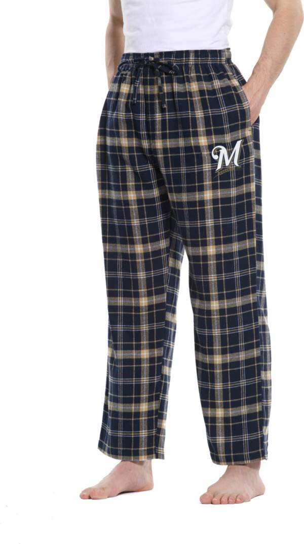 Concepts Sport Men's Milwaukee Brewers Plaid Flannel Pajama Pants product image