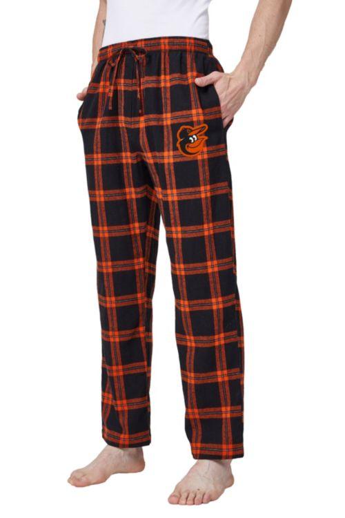 a816d27a79a Concepts Sport Men s Baltimore Orioles Plaid Flannel Pajama Pants ...