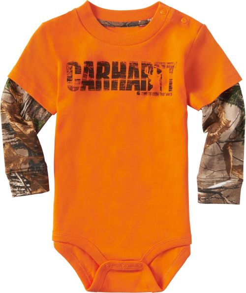 b6b43960c Carhartt Infant Boys' Earn That Buck Long Sleeve Onesie. noImageFound. 1