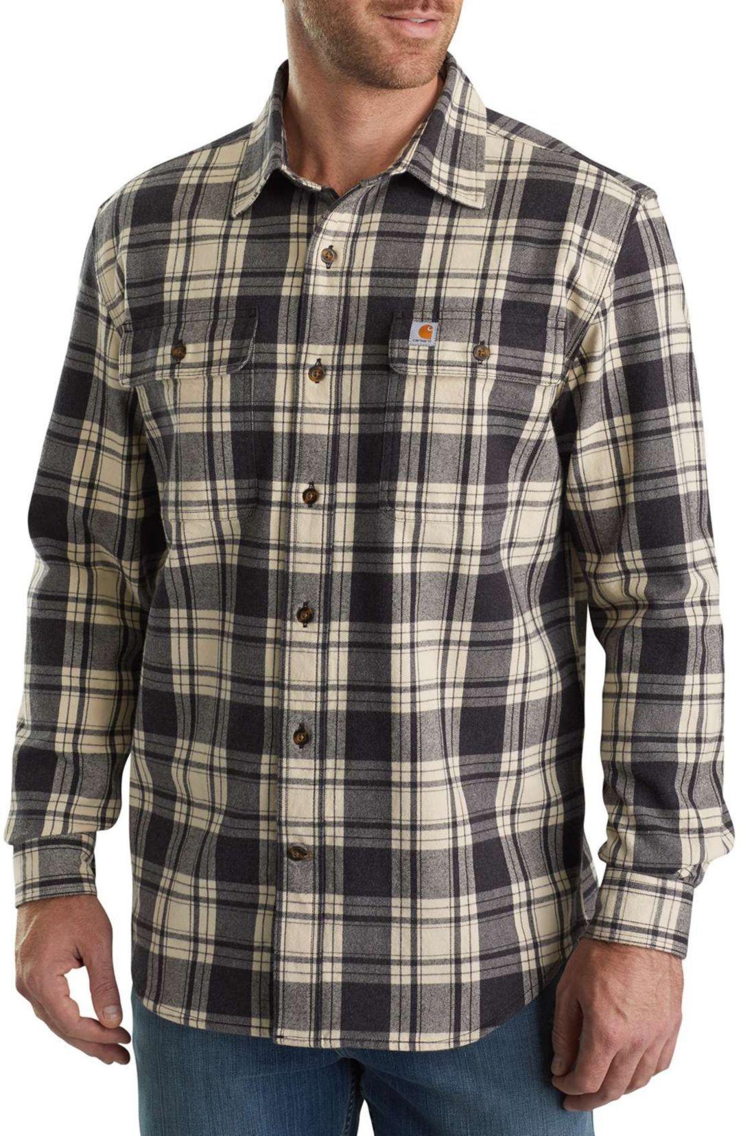 8cea4034b Carhartt Men's Hubbard Plaid Long Sleeve Button Down Shirt | DICK'S ...