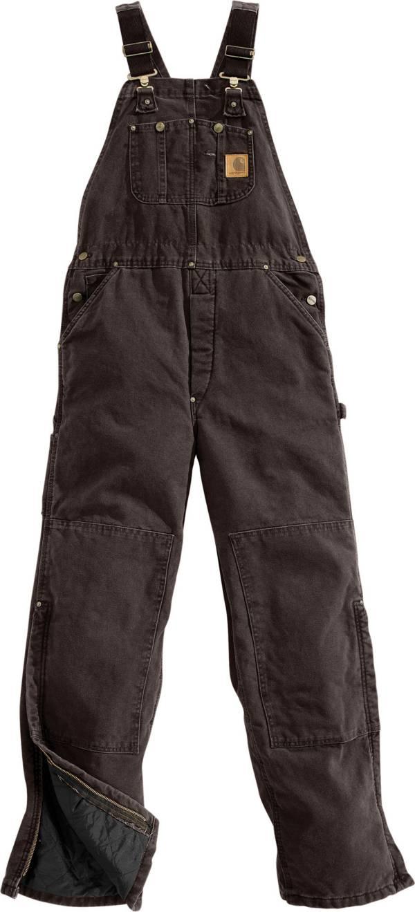 Carhartt Men's Sandstone Duck Quilt-Lined Overall Bib product image