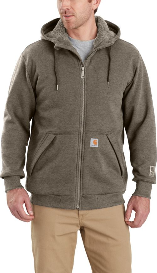 02aafaa07 Carhartt Men s Rain Defender Rockland Sherpa-Lined Full-Zip Hooded ...