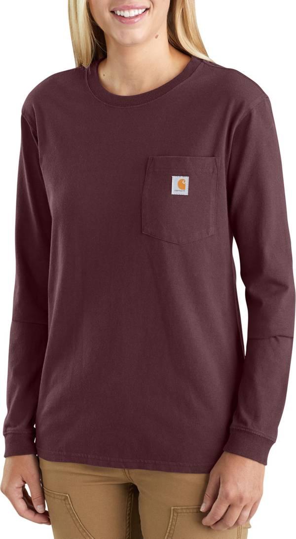 Carhartt Womens K126 Workwear Pocket Long Sleeve T-Shirt Regular and Plus Sizes