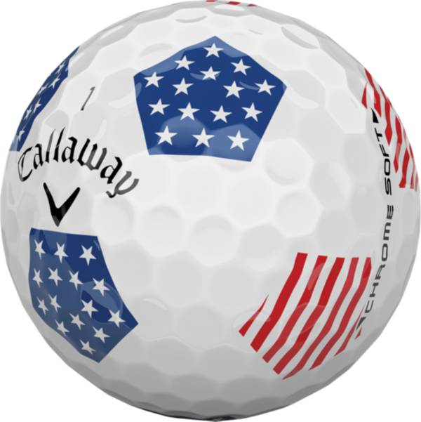 Callaway 2018 Chrome Soft Truvis Stars and Stripes Golf Balls product image