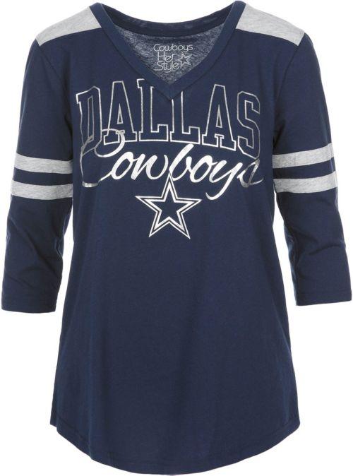 Dallas Cowboys Merchandising Women s Mila Foil Navy Shirt. noImageFound. 1 2bb2b96fa