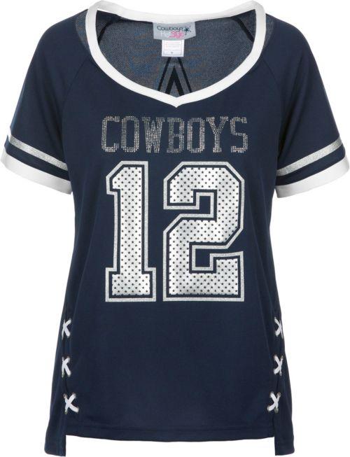 Dallas Cowboys Merchandising Women s Vixen Navy Jersey Shirt. noImageFound.  Previous 563569d3b