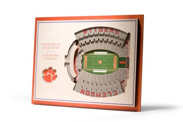 You the Fan Clemson Tigers 5-Layer StadiumViews 3D Wall Art product image