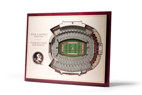 You the Fan Florida State Seminoles 5-Layer StadiumViews 3D Wall Art product image