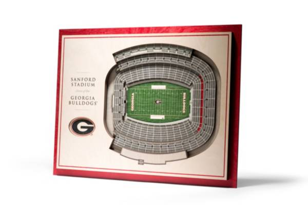 You the Fan Georgia Bulldogs 5-Layer StadiumViews 3D Wall Art product image