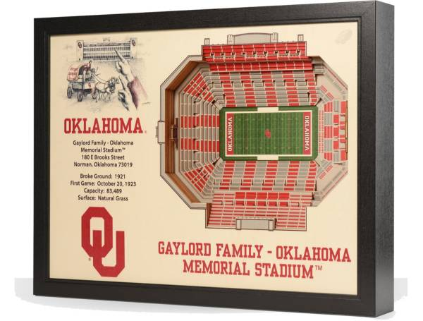 You the Fan Oklahoma Sooners 25-Layer StadiumViews 3D Wall Art product image
