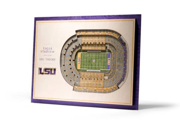 You the Fan LSU Tigers 5-Layer StadiumViews 3D Wall Art product image