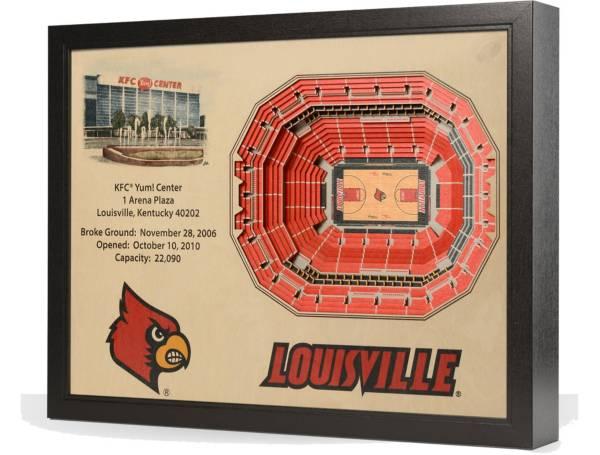 You the Fan Louisville Cardinals 25-Layer StadiumViews 3D Wall Art product image