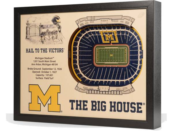 You the Fan Michigan Wolverines 25-Layer StadiumViews 3D Wall Art product image